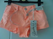 Denim & Co cotone Peach Pantaloncini Taglia 8 NUOVO CON ETICHETTA