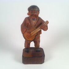 """Vintage ANRI Wood Carving Musician Figurine 3.25"""" #2"""