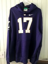 Nike Team Purple Washington Huskies Mens XL  #17 Player Hoodie NWT