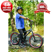 18 Inch Kids Old School BMX Freestyle Pro Bike With Training Wheels Boys Bicycle