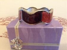 "DEBENHAMS""BUCKINGHAM"" HINGED ENAMEL BRACELET - BOXED"