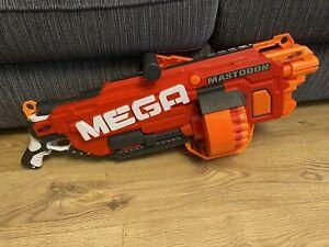 Nerf N-strike Elite Mega Mastodon Blaster & 24 Mega Red Darts Ammo Added