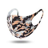 Mundschutz Behelf-Mund-Nasen-Atem-Schutz Maske Waschbar Camouflage Orange