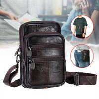 Men Vintage Business Leather Shoulder Bag Messenger Crossbody Handbag Satchel