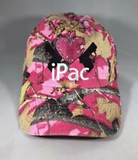 iPac Cap Hat With Two Embroidered Guns Pink Camp Style Sparkles Adjustable Women