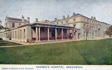 Seamen's Hospital - Greenwich - LONDON - 1907 Original Postcard (50-12)