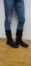 HUGO BOSS Orange 18151 Boots Stiefel Schuhe Leder Textil Schwarz Gr. 10,5 = 45