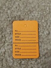 Unstrung Orange Perforated Coupon Price Tags 1 14 X 1 78 1000 New