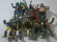 9 TNNT Action Figures Playmates Nickelodeon Turtles Toys