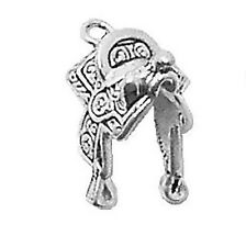 Horse Saddle Charm Sterling Silver Pendant Animal Cowboy Western
