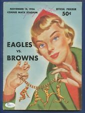 1956 Jerry Norton JSA Authenticated Autographed Eagles v Browns Official Program