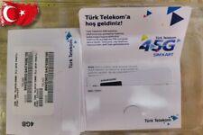 New!! Domestic Turkey SIM CARD Turk Telekom 4GB + 300 local minutes ready to use