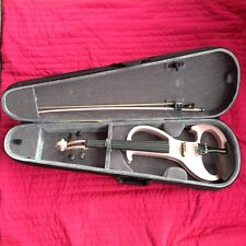 Electric Silent Violin 4/4 With Case & Bow