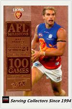 AFL Trading Card MILESTONES SUBSET MASTER TEAM SET-BRISBANE-2012 AFL Champions