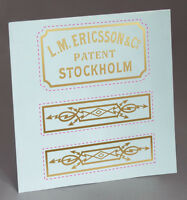 WATER SLIDE DECAL ERICSSON STOCKHOLM -SMALL- RINGER COVER,TELEPHONE  RESTORE!