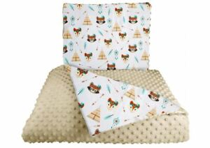 Baby Bedding Set For Strollers Trolley Double-Sided Set Indian Camp Beige 2pcs