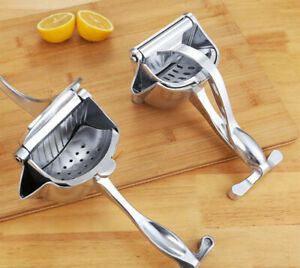 Manual Juicer Stainless Steel Hand Lemon Juice Squeezer Fruit Press Extractor UK