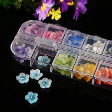 60Pcs 3D Nail Bows Flowers Rhinestone 3D Nail Art Stickers Decoration 12 Pieces