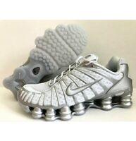 NEW Nike Shox TL AV3595-003 White Pure Platinum Chrome Mens Running Shoes Sz 8.5