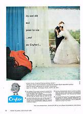 PUBLICITE ADVERTISING  1960   CRYLOR  rideaux voilages mariage