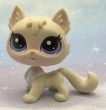 Littlest Pet Shop Authentic # 250 White Turkish Angora Cat Sunny Sunday