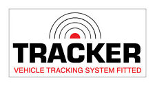 2 x TRACKER- VEHICLE TRACKING SYSTEM FITTED-  CAR STICKER DECAL WINDOW DASHBOARD