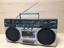 Sharp GF-5858E Boombox Stereo Radio Cassette Player Ghetto Blaster 80's Vintage