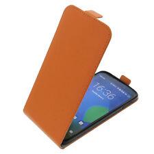 Funda para Alcatel one touch Idol 3 5.5 flipstyle Protección con tapa naranja