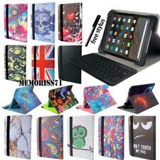 Leather Stand Cover Case + Bluetooth Keyboard For Amazon Kindle Fire 7 / HD 8