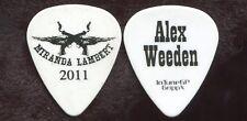MIRANDA LAMBERT 2011 Tour Guitar Pick!!! ALEX WEEDEN custom concert stage #2