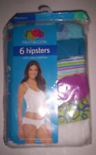 New 6 Pack of Women's Fruit Of The Loom Hipsters / Panties Size 9