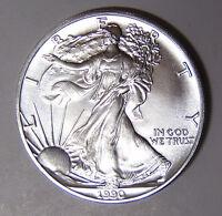 1990 American Silver Eagle 1 oz .999 Fine Silver Dollar (3718)