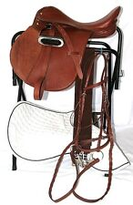 14 Inch All Purpose English Saddle Complete Package - Medium Chestnut