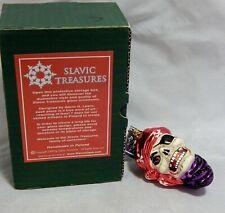 Slavic Treasures Blown Glass Christmas Ornament Davey Bones