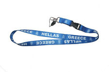 GREECE HELLAS BLUE COUNTRY FLAG LANYARD KEYCHAIN PASSHOLDER .. NEW