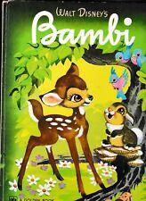 WALT DISNEY'S Bambi-FELIX SALTEN-MELVIN SHAW-hc-1976-A BIG GOLDEN BOOK