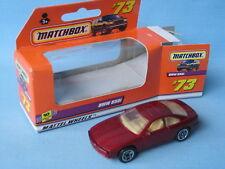 Matchbox BMW 850i Maroon Body Spoke Wheels Toy Model Sports Car 70mm Boxed