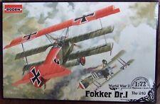 RODEN 1/72 FOKKER Dr.1 Triplane 010 *NEW* (damaged box)