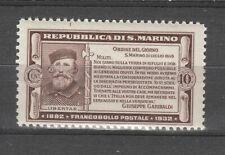s37535 SAN MARINO MNH** 1932 Garibaldi c. 10 1v  Sassone 168