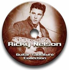 Ricky Nelson Rockabilly Rock Guitar Tab Tablature Song Book CD