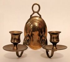 Antique Candle Holder Brass Double Candle Stick Holder Wall Sconce Vintage