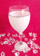 WHITE GEMMED RHINESTONE  GLITTER GLASSES WEDDING BIRTHDAY CHRISTMAS GIFT