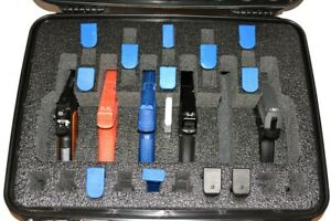 QuickDraw 6 pistol handgun gun + 25 mags foam insert kit fit your HPRC 2600 case