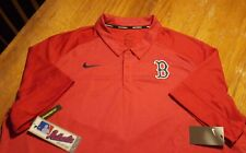 NWT New Boston Red Sox Nike Dri Fit Red Polo Shirt Big and Tall 3XL