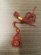 """Buddha Pendant Carnelian with bead. necklace is 30"""" adjustable"""