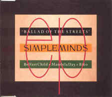 SIMPLE MINDS - Ballad of the streets 3TR CDM 1989 SYNTH-POP (Virgin)