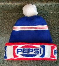 070d7dc6296 Vintage Pepsi Winter Knit Hat 1970s Red White Blue Pepsi Cola