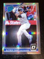 2018 Optic Gleyber Torres RC Silver Holo Prizm Refractor Rookie New York Yankees