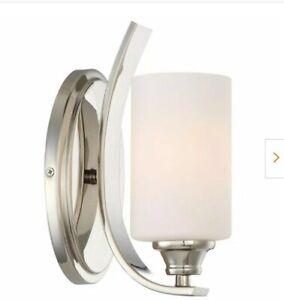 Tibury 1 Wall Sconce Light Polished Nickel Scone Minkalavery 3981-613