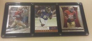 ANQUAN BOLDIN 3 CARD PLAQUE, FLORIDA STATE,BALTIMORE RAVENS, SAN FRANCISCO 49ERS